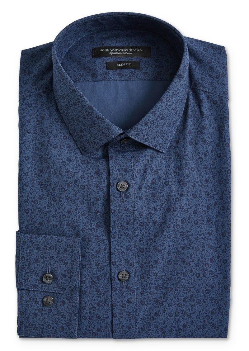 John Varvatos Star USA Floral Print Slim Fit Dress Shirt