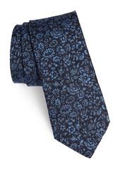 John Varvatos Star USA Floral Silk Blend Tie