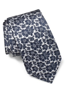 John Varvatos Star USA Floral Silk Tie