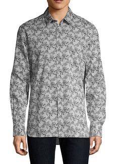John Varvatos Star U.S.A. Floral Stripe Button-Down Shirt