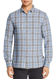 John Varvatos Star USA Fulton Check Slim Fit Button-Down Shirt