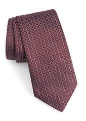 John Varvatos Star USA Geo Oval Silk Tie
