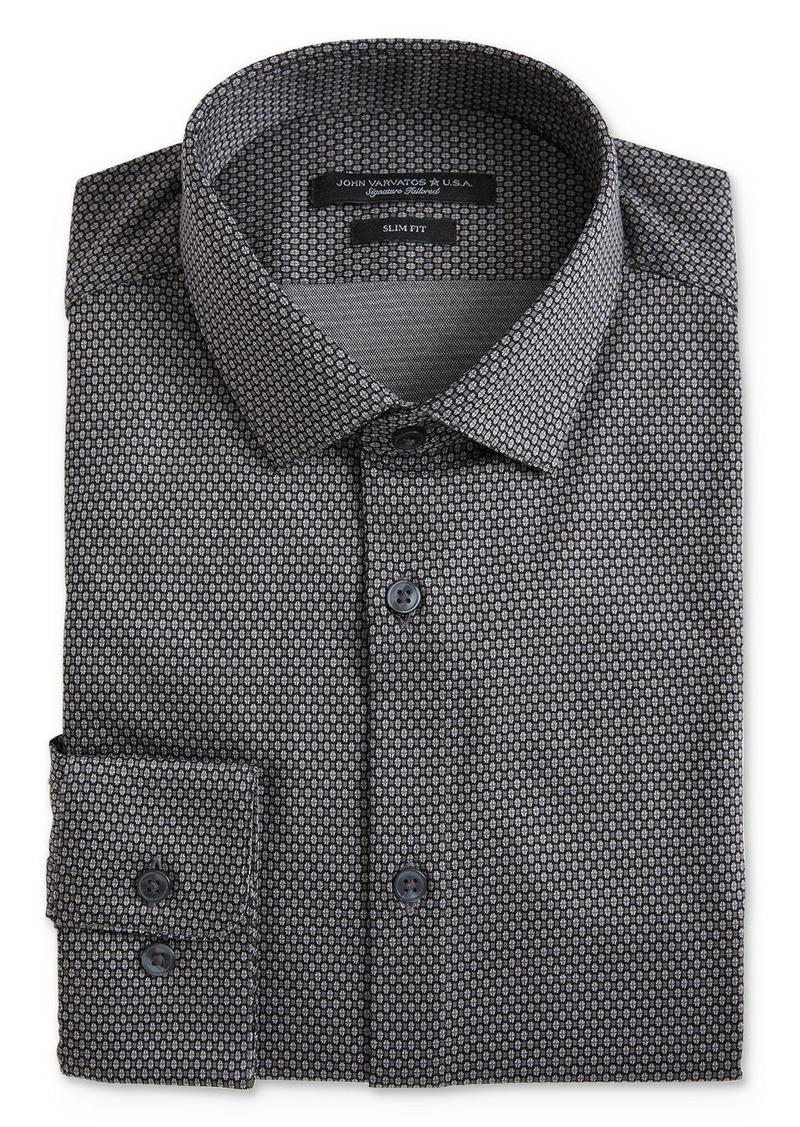 John Varvatos Star USA Geo Pattern Jersey Slim Fit Dress Shirt