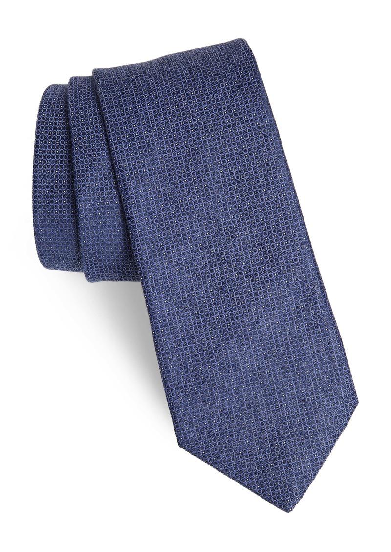 John Varvatos Star USA Geometric Linen & Cotton Tie