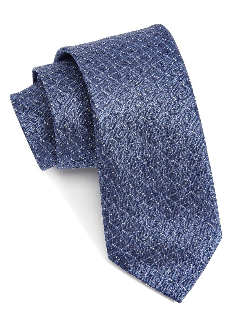 John Varvatos Star USA Geometric Silk Tie