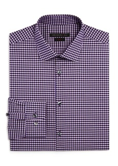 John Varvatos Star USA Gingham Check Slim Fit Stretch Dress Shirt