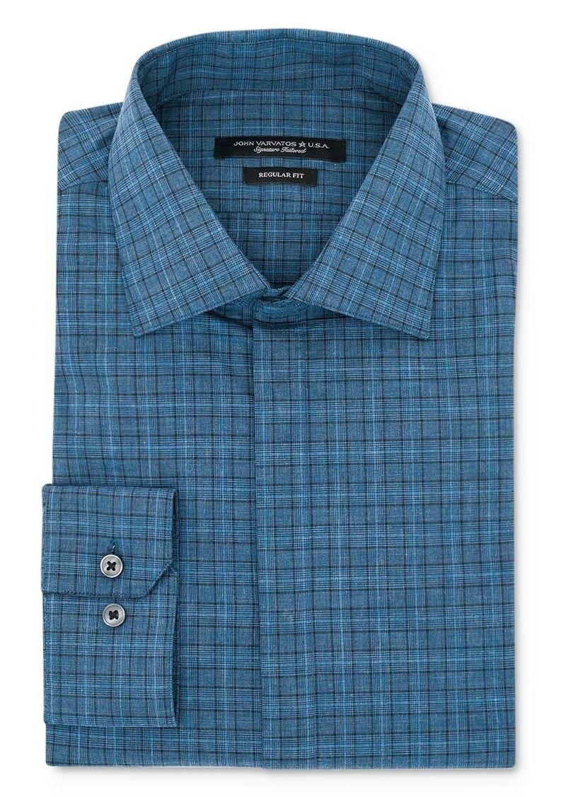 John Varvatos Star USA Glen Plaid Regular Fit Dress Shirt