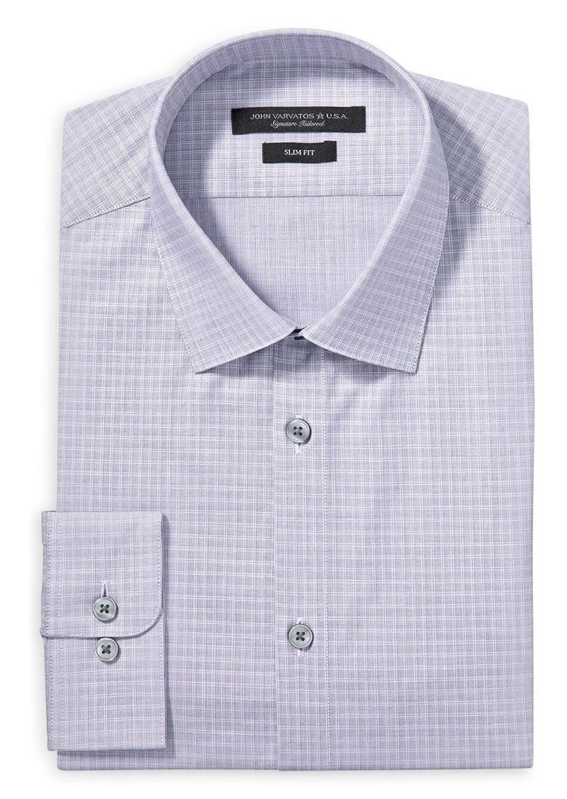 John Varvatos Star USA Graph Check Slim Fit Dress Shirt