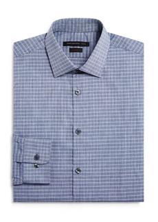 John Varvatos Star USA Grid Check Slim Fit Dress Shirt