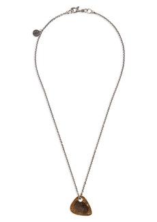 John Varvatos Guitar Pick Pendant Necklace
