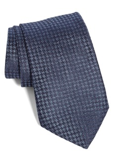 John Varvatos Star USA Houndstooth Silk Tie