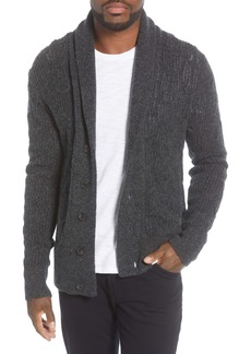 John Varvatos Star USA Houston Brushed Bouclé Cardigan Sweater