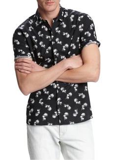 John Varvatos Star U.S.A. Jasper Palm Printed Button-Down Shirt