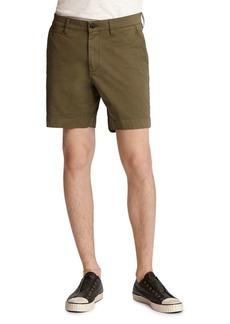 John Varvatos Star USA Johnny Cotton-Blend Solid Slim Fit Shorts