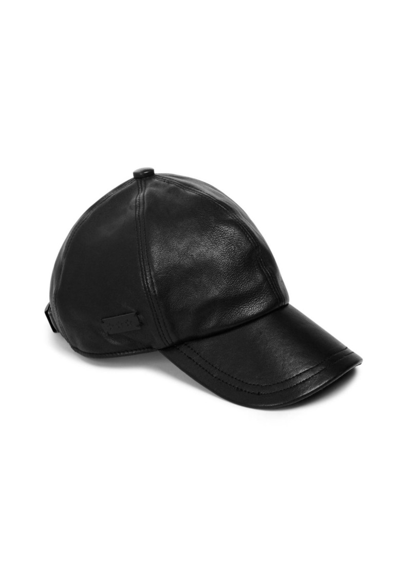 John Varvatos Star USA Leather Baseball Cap