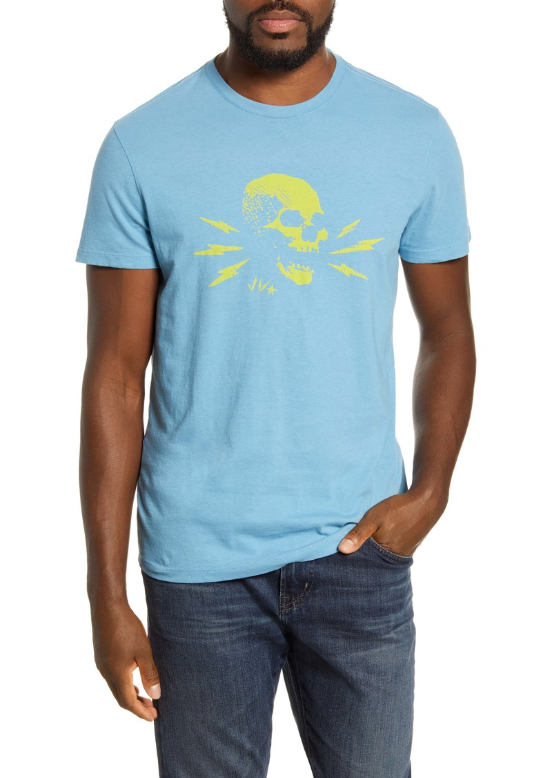 John Varvatos Star USA Lightning Skull T-Shirt