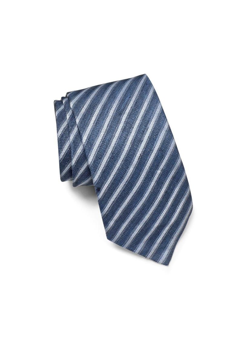 John Varvatos Star USA Linen Stripe Classic Tie