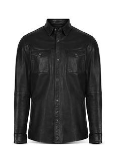 John Varvatos Star USA Lionel Leather Slim Fit Shirt