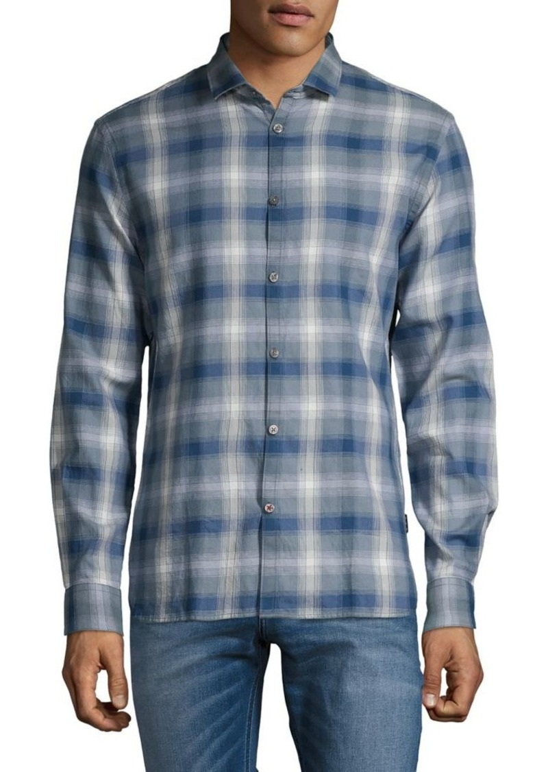 John Varvatos Star U.S.A. Long-Sleeve Plaid Shirt