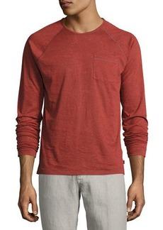 John Varvatos Star USA Long-Sleeve Raglan Burnout T-Shirt