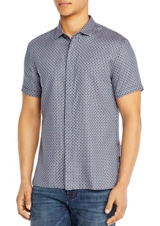 John Varvatos Star USA Loren Cotton Printed Shirt