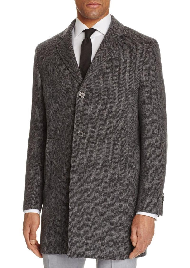 John Varvatos Star USA LUXE Herringbone Overcoat