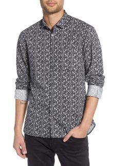 John Varvatos Star USA Marco Slim Fit Floral Button-Up Sport Shirt