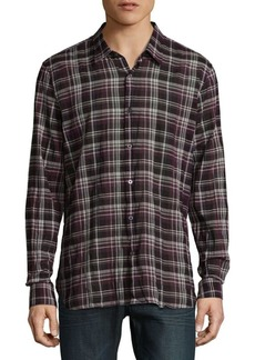 John Varvatos Star U.S.A. Mayfield Plaid Casual Button-Down Shirt