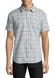 John Varvatos Star USA Mayfield Slim-Fit Plaid Sport Shirt