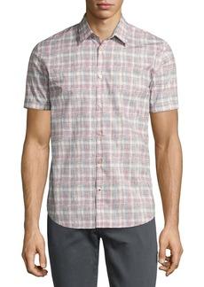 John Varvatos Star USA Mayfield Slim-Fit Short-Sleeve Plaid Shirt
