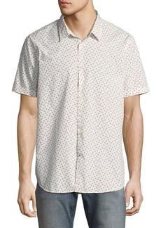 John Varvatos Star USA Mayfield Slim-Fit Short-Sleeve Windowpane Shirt