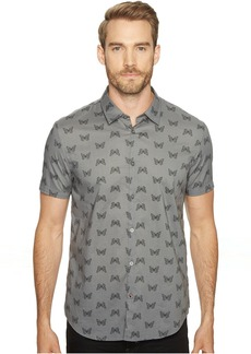 John Varvatos Mayfiled Slim Fit Sport Shirt with Cuffed Short Sleeves W443T1B