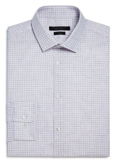 John Varvatos Star USA Melange Check Slim Fit Dress Shirt