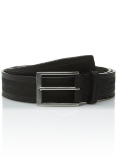 John Varvatos Star USA Men's 35mm Embossed Belt