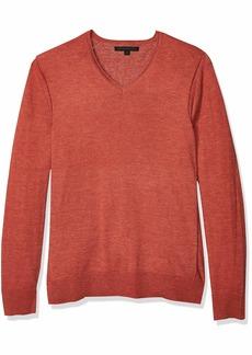 John Varvatos Star USA Men's Arlington Long Sleeve Melange V-Neck Sweater