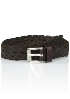 John Varvatos Star USA Men's Braided Leather Belt 25mm