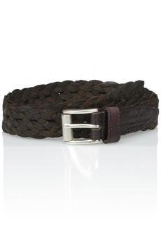 John Varvatos Star USA Men's Braided Leather Belt 25mm