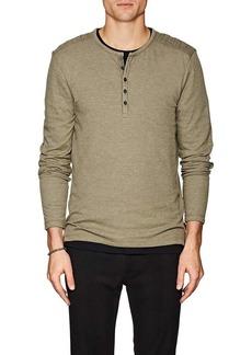 John Varvatos Star U.S.A. Men's Cotton-Blend Jersey Henley
