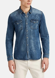 John Varvatos Star U.S.A. Men's Cotton Chambray Western Shirt
