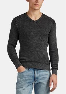 John Varvatos Star U.S.A. Men's Cotton-Linen V-Neck Sweater