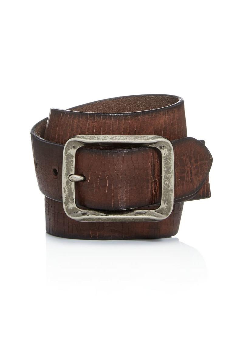 John Varvatos Star USA Men's Crackled Leather Belt