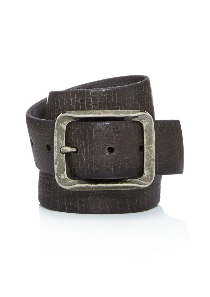 John Varvatos Star USA Men's Crackled Leather Belt