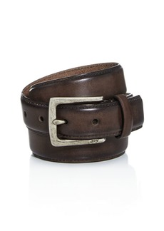 John Varvatos Star USA Men's Distressed Leather Belt