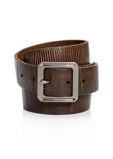 John Varvatos Star USA Men's Embossed Leather Belt