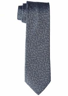 John Varvatos Star USA Men's Fillmore GEO Print TIE BLUE STEEL