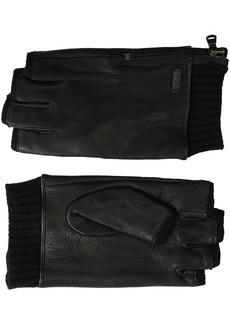 John Varvatos Star U.S.A Men's Fingerless Glove with Side Zip  XL