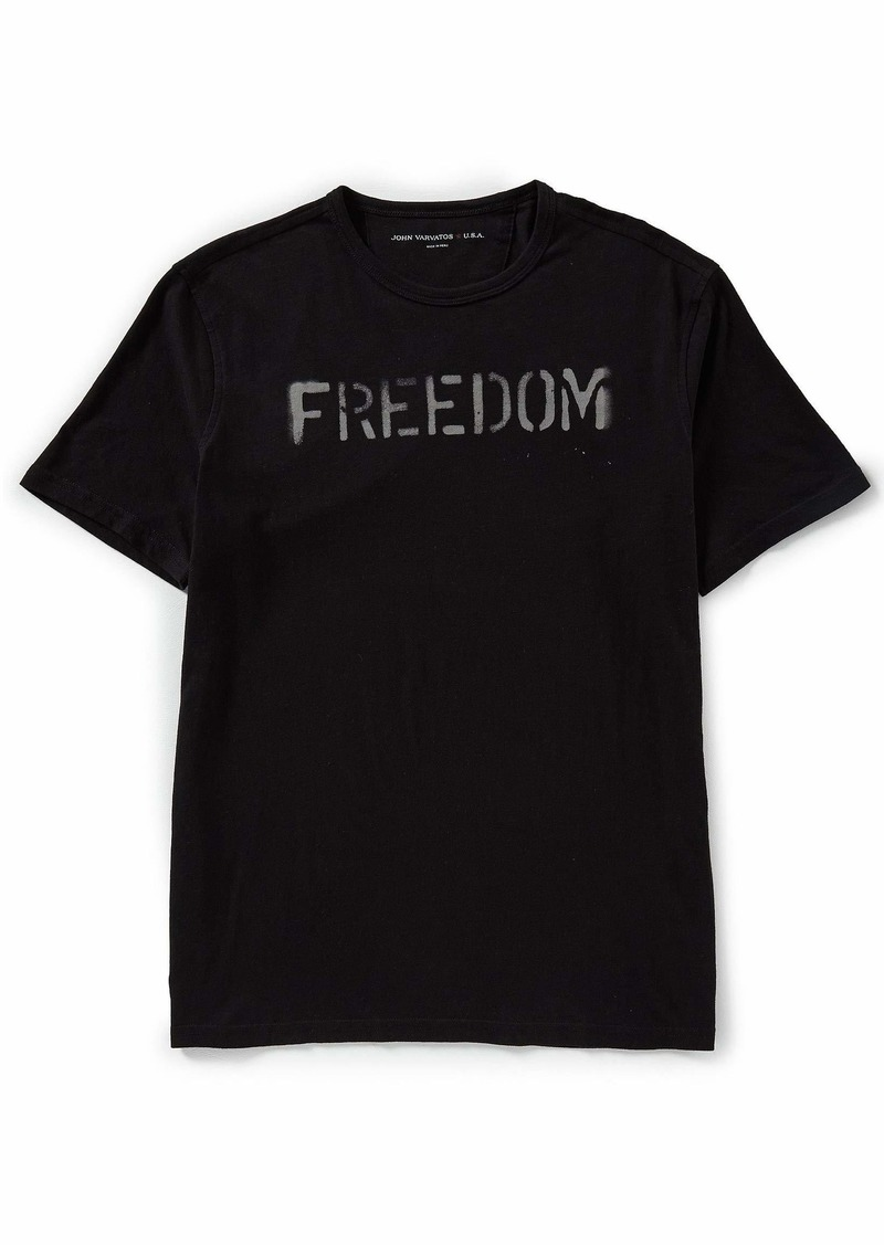John Varvatos Star USA Men's Freedom Graphic TEE  M