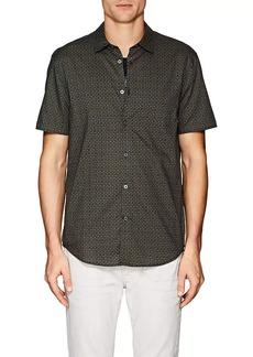 John Varvatos Star U.S.A. Men's Geometric-Print Cotton Poplin Shirt