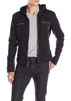 John Varvatos Star USA Men's Hooded Jean Jacket