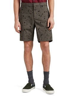 John Varvatos Star U.S.A. Men's Ink Drop-Stained Cotton Flat-Front Shorts